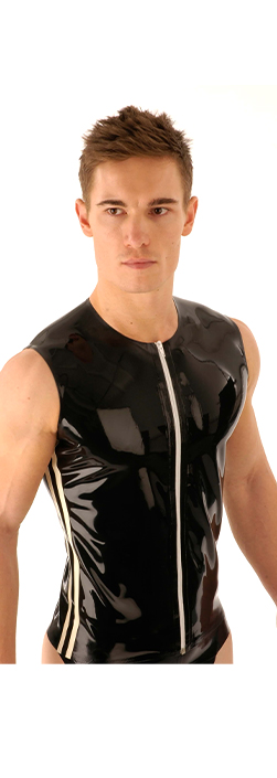 SR14 Latex T - Shirt Front Zip Sleeveless