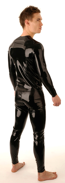 SR17 Latex T - Shirt Front Zip Longsleeve