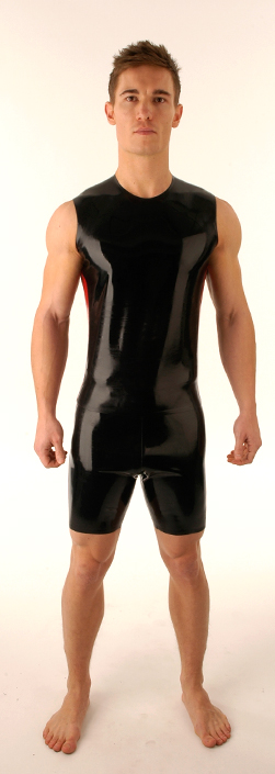 SR42 Latex T-shirt Sleeveless-cycle Shorts Set